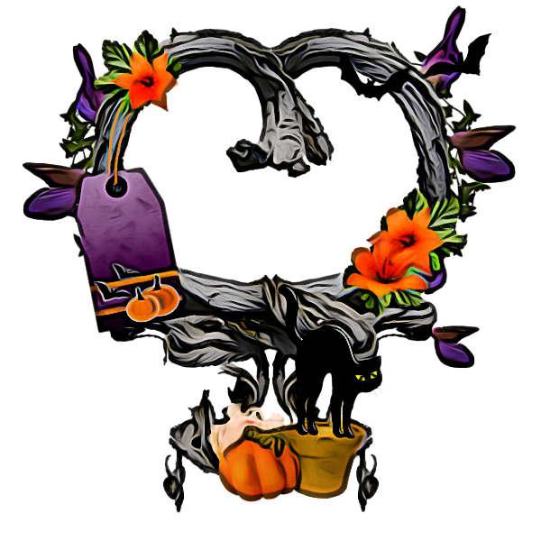 Transparent Borders And Frames Day Of The Dead Halloween Plant for Halloween