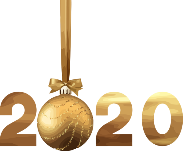 Transparent New Years 2020 Christmas ornament Font Logo for Happy New Year 2020 for New Year