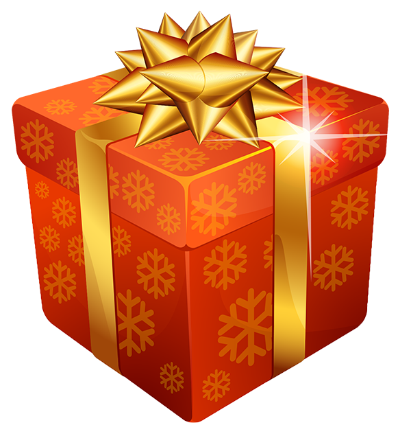 Transparent Gift Box Gift Card for Christmas