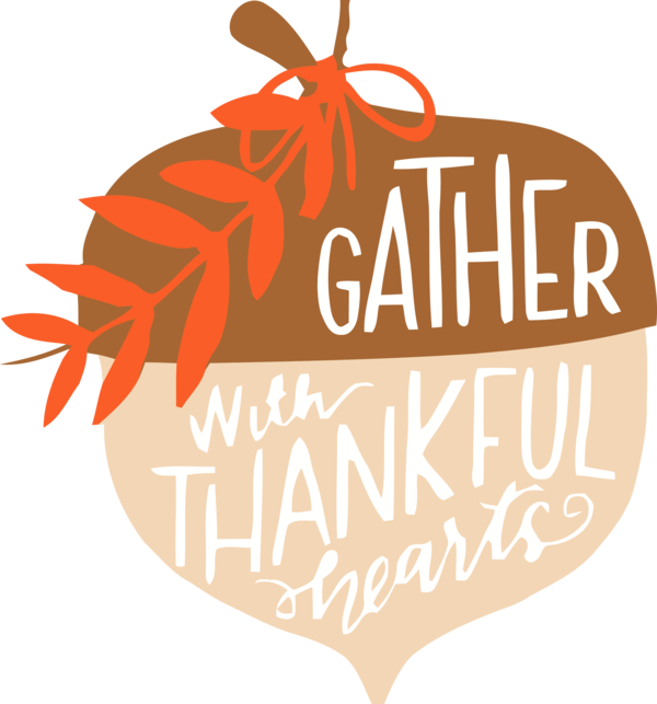 Transparent Thanksgiving Orange Logo Leaf for Acorns for Thanksgiving