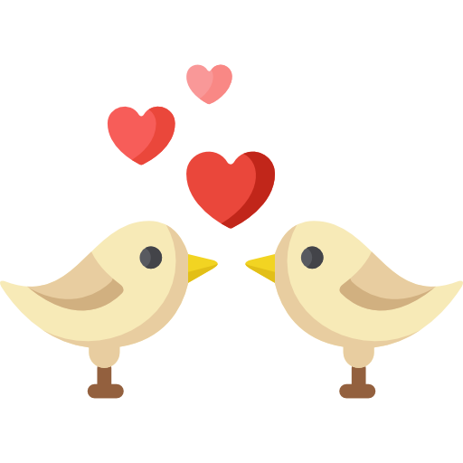 Transparent Kiss Love Web Design Heart Water Bird for Valentines Day