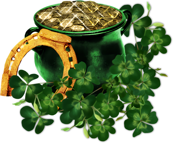St Patrick's Day Plant Leaf Clover for Pot Of Gold for St ...