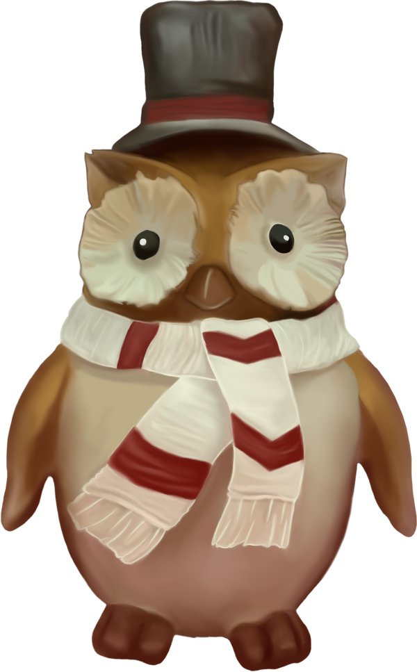 Transparent Thanksgiving Owl Toy Stuffed toy for Thanksgiving Owl for Thanksgiving
