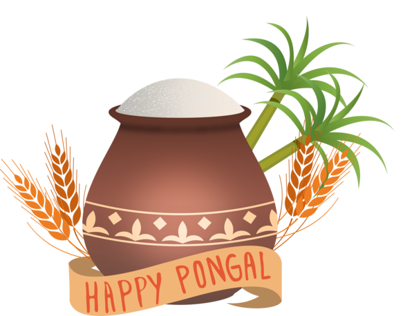 Transparent Pongal Logo Grass family Tree for Thai Pongal for Pongal