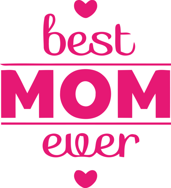 Transparent Mother's Day Text Pink Font for Happy Mother's Day for Mothers Day