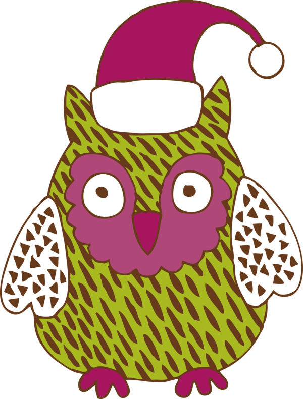 Transparent New Year Owl Pink Cartoon for Party Animal for New Year