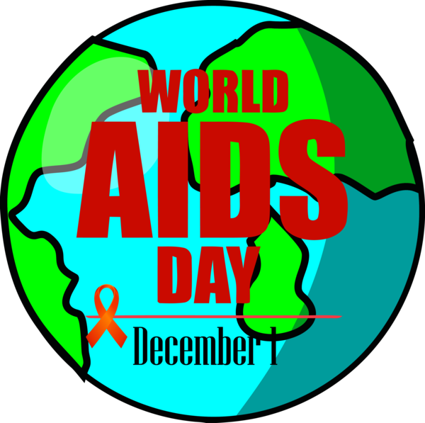 World Aids Day Green Logo for Red Ribbon for World Aids ...