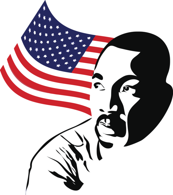 Transparent Martin Luther King Jr. Day Flag of the united states Flag Flag Day (USA) for MLK Day for Martin Luther King Jr Day