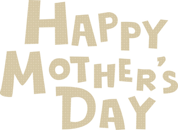 Transparent Mother's Day Font Text Logo for Mothers Day Calligraphy for Mothers Day