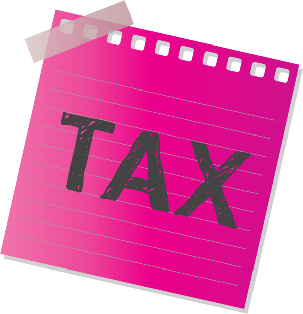 Transparent Tax Day Pink Magenta Font for 15 April for Tax Day
