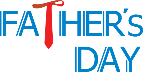 Transparent Father's Day Text Font Line for Happy Father's Day for Fathers Day