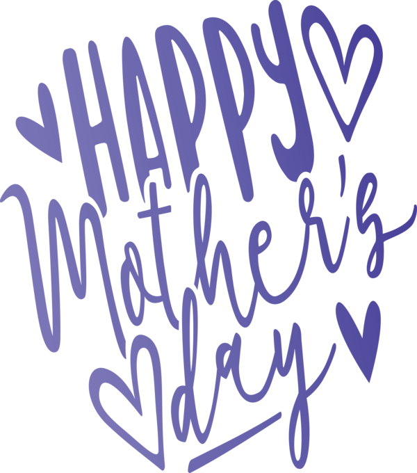 Transparent Mother's Day Font Text Calligraphy for Mothers Day Calligraphy for Mothers Day