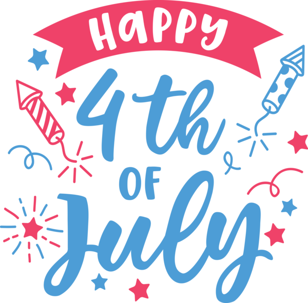 Transparent US Independence Day Text Font Logo for 4th Of July for Us Independence Day