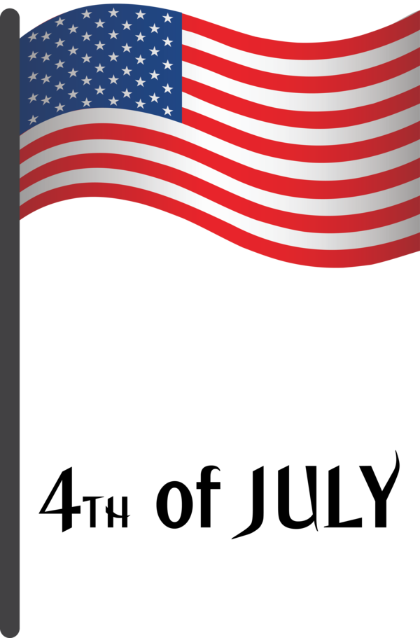 Transparent US Independence Day Flag Flag Day (USA) Flag of the united states for 4th Of July for Us Independence Day