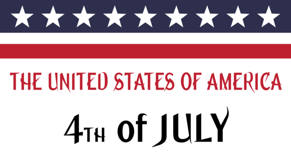 Transparent US Independence Day Text Font Line for 4th Of July for Us Independence Day