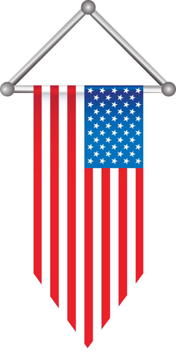 Transparent US Independence Day Flag Flag of the united states Line for 4th Of July for Us Independence Day