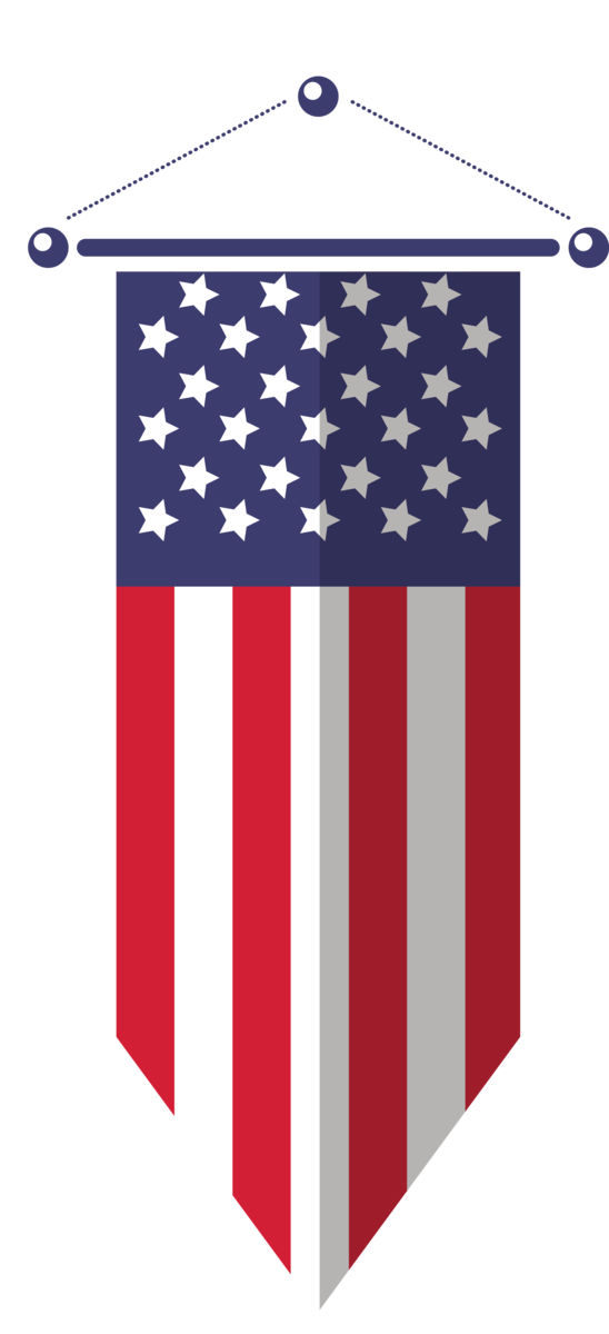 Transparent US Independence Day Flag Flag of the united states Flag Day (USA) for 4th Of July for Us Independence Day