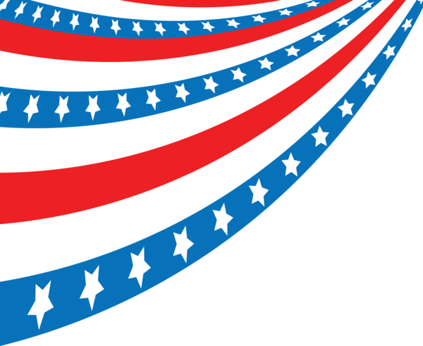 Transparent US Independence Day Flag Line Flag of the united states for 4th Of July for Us Independence Day
