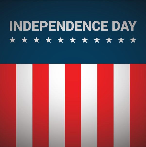 Transparent US Independence Day Flag Text Red for 4th Of July for Us Independence Day
