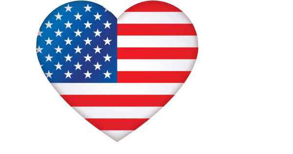 Transparent US Independence Day Flag Flag of the united states Heart for 4th Of July for Us Independence Day
