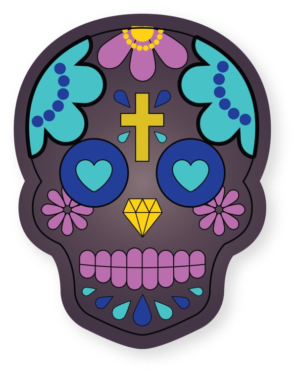 Transparent Cinco De Mayo Drawing Skull art Day of the Dead for Fifth of May for Cinco De Mayo