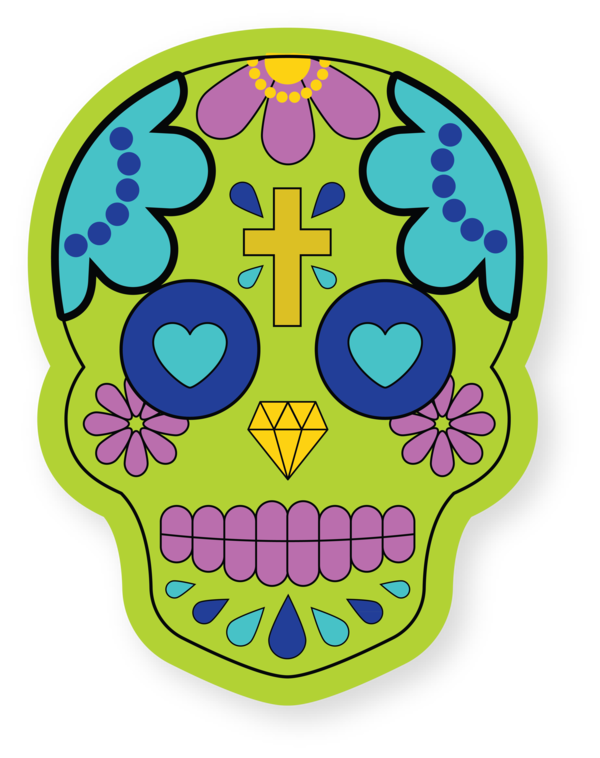 Transparent Cinco De Mayo Drawing Skull art Line art for Fifth of May for Cinco De Mayo