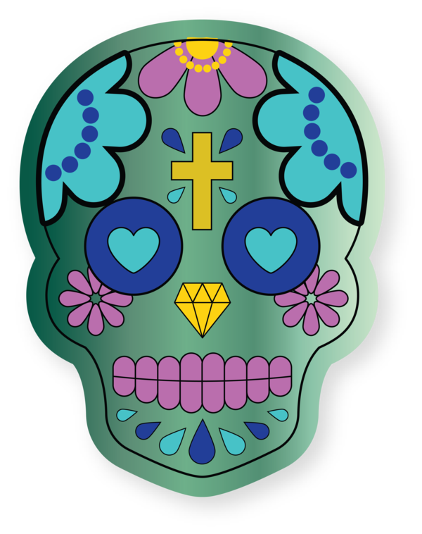 Transparent Cinco De Mayo Day of the Dead Drawing Skull art for Fifth of May for Cinco De Mayo