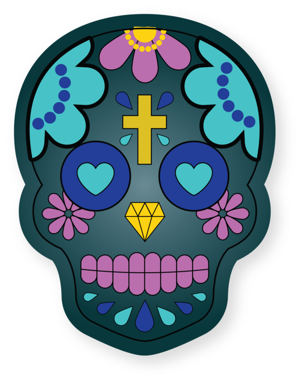 Transparent Cinco De Mayo Drawing Skull art Painting for Fifth of May for Cinco De Mayo