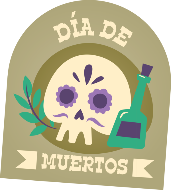 Transparent Day of the Dead Logo  Day of the Dead for Día de Muertos for Day Of The Dead