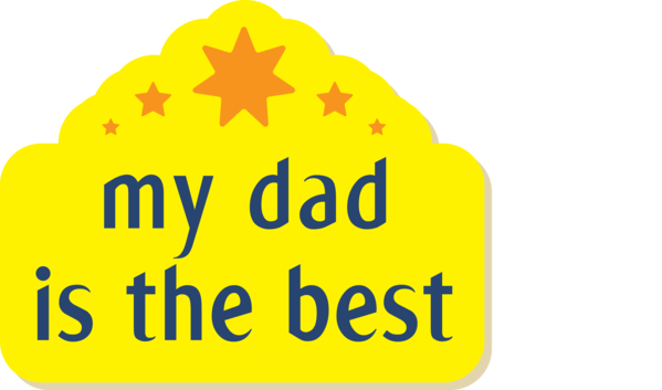 Transparent Father's Day Logo Font Yellow for Happy Father's Day for Fathers Day