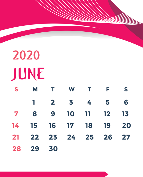 Transparent New Year Font Line Point for Printable 2020 Calendar for New Year