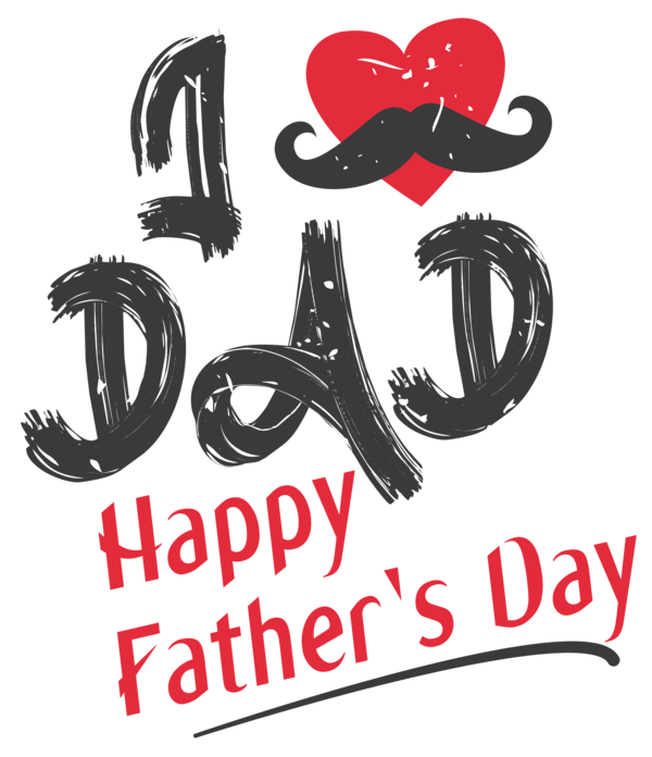 Transparent Father's Day Logo Font Line for Happy Father's Day for Fathers Day