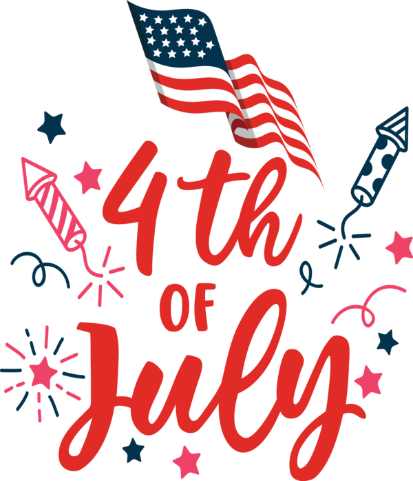 Transparent US Independence Day Design Logo Line for 4th Of July for Us Independence Day