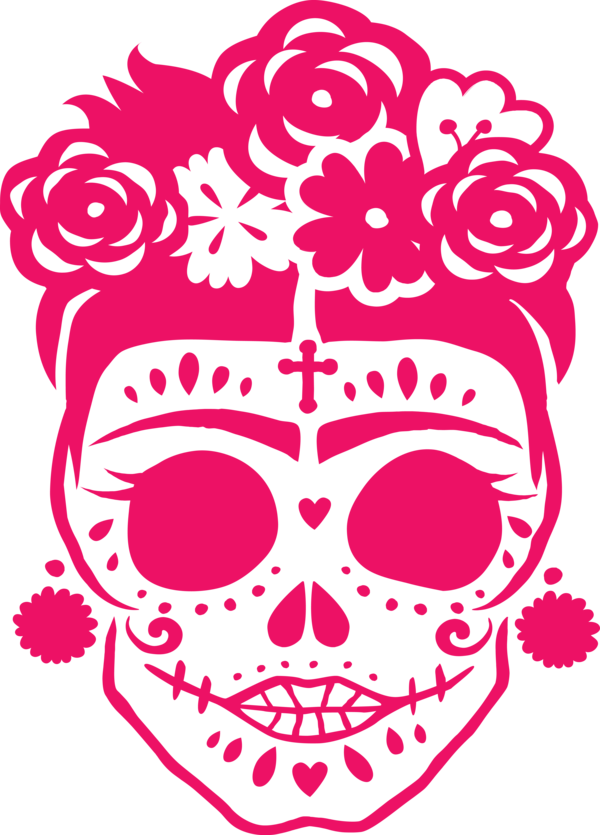 Transparent Day of the Dead Day of the Dead Calavera Stencil for Calavera for Day Of The Dead
