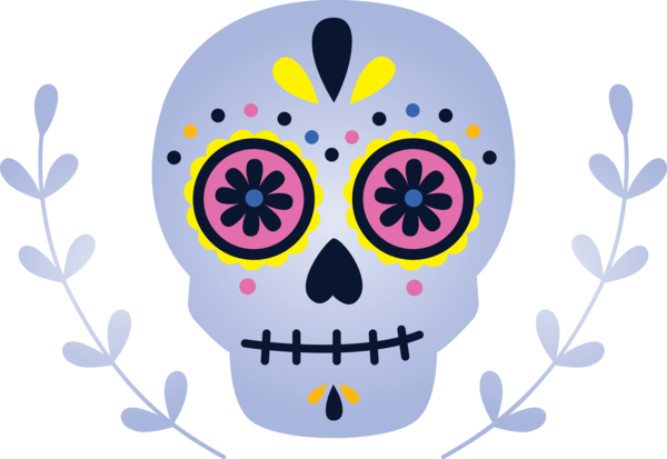 Transparent Day of the Dead Skull art Day of the Dead Visual arts for Calavera for Day Of The Dead