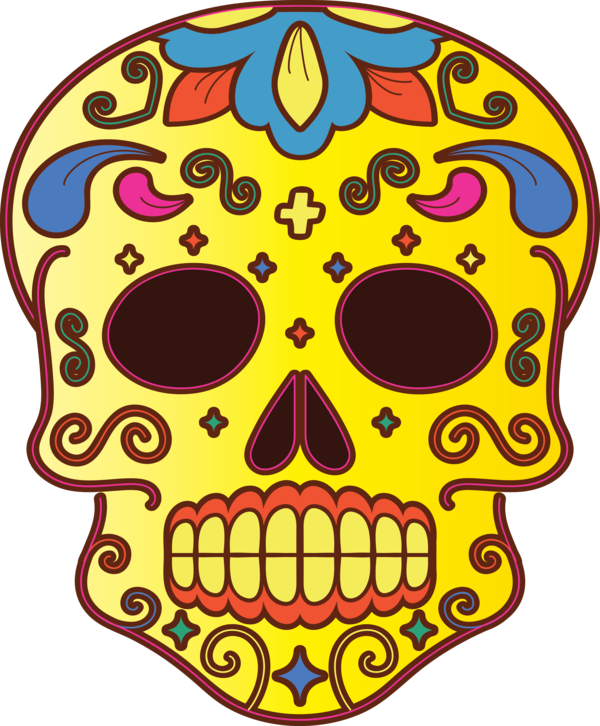 Transparent Day of the Dead Day of the Dead Skull art Visual arts for Calavera for Day Of The Dead