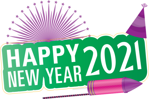 Transparent New Year Logo New Year's resolution Font for Happy New Year 2021 for New Year