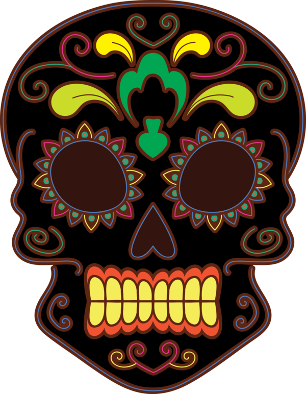 Transparent Day of the Dead Day of the Dead Skull art Calavera for Calavera for Day Of The Dead