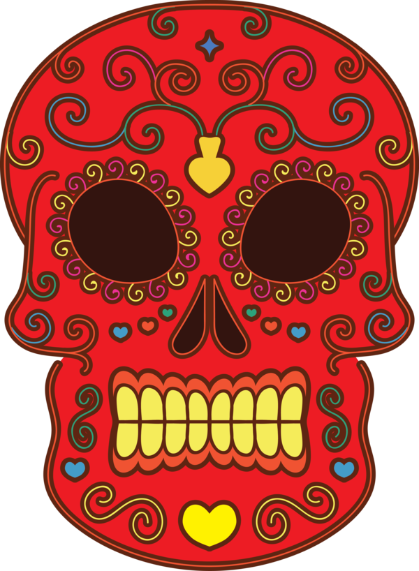 Transparent Day of the Dead Visual arts Day of the Dead Drawing for Calavera for Day Of The Dead