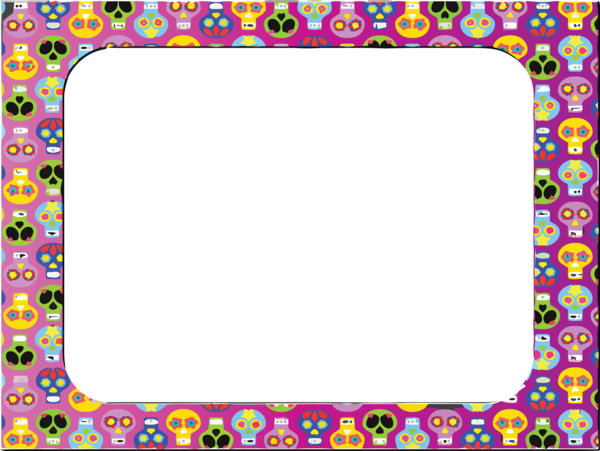 Transparent Halloween Picture frame Day of the Dead Text for Halloween Frame for Halloween