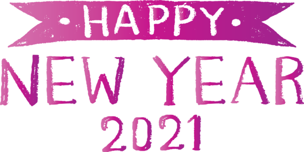 Transparent New Year Logo Font Design for Happy New Year 2021 for New Year