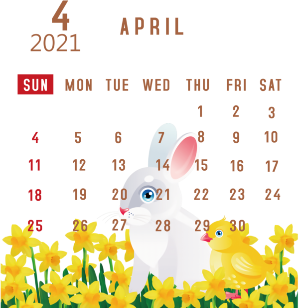 Transparent New Year Easter Bunny Hare Mr. McGregor for Printable 2021 Calendar for New Year