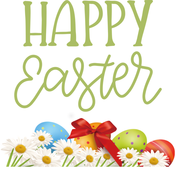 Transparent Easter Floral design Yellow Line for Easter Day for Easter
