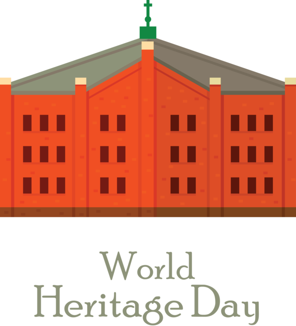 Transparent International Day For Monuments and Sites Façade Line Font for World Heritage Day for International Day For Monuments And Sites
