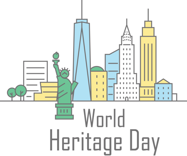 Transparent International Day For Monuments and Sites Design Logo Cartoon for World Heritage Day for International Day For Monuments And Sites