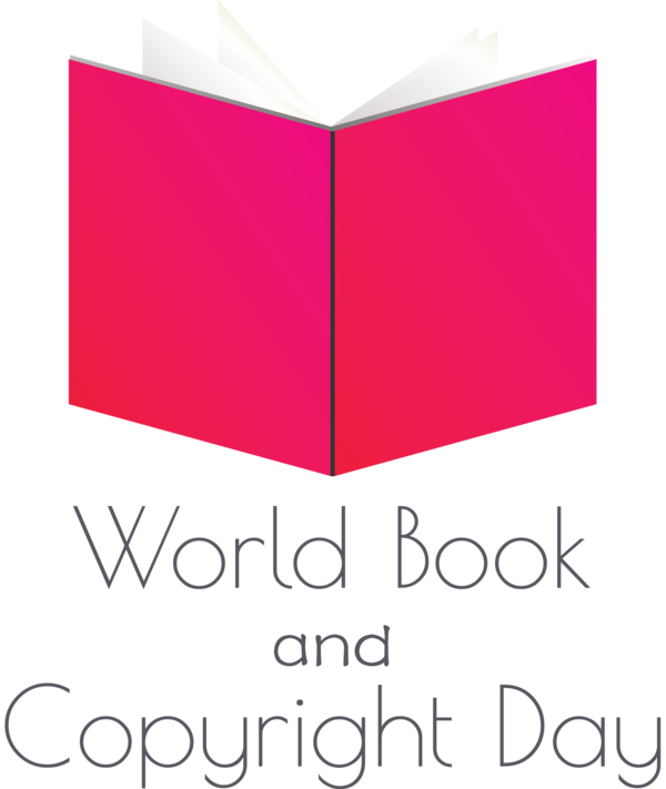 Transparent World Book and Copyright Day Line Meter Font for World Book Day for World Book And Copyright Day