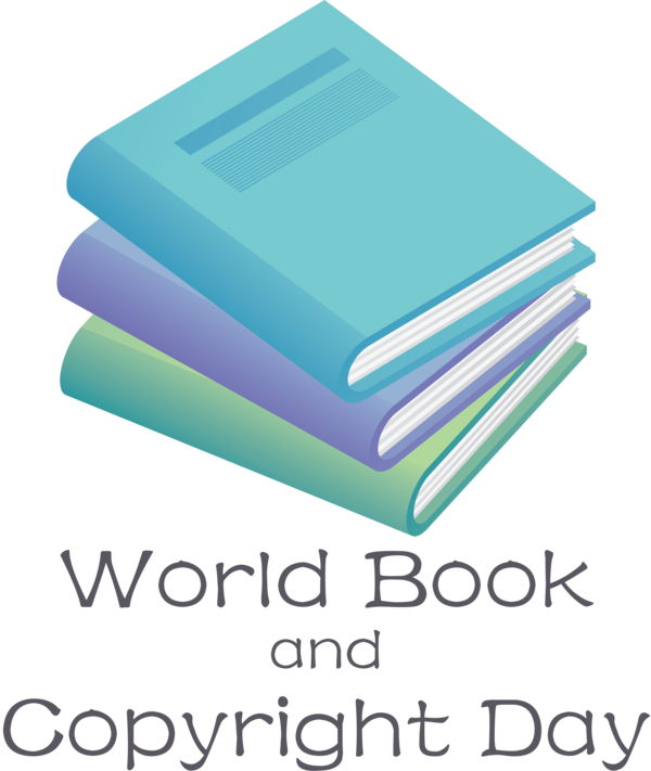 Transparent World Book and Copyright Day Logo Paper Font for World Book Day for World Book And Copyright Day