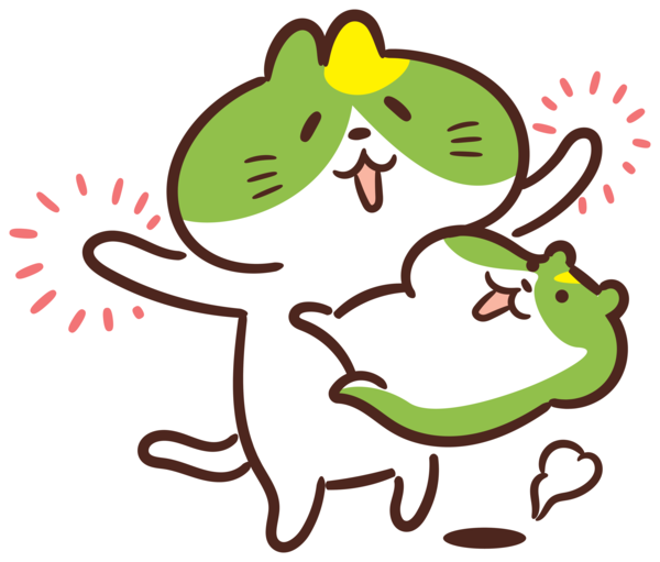 Transparent International Cat Day Chōjū-jinbutsu-giga Frogs Rabbit for Cartoon Cat for International Cat Day