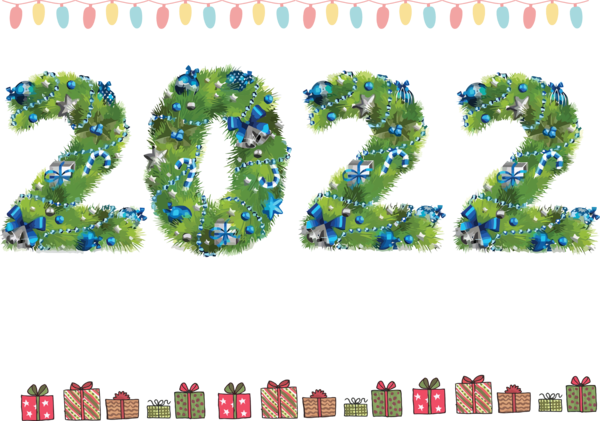 Transparent New Year Number Font Meter for Happy New Year 2022 for New Year