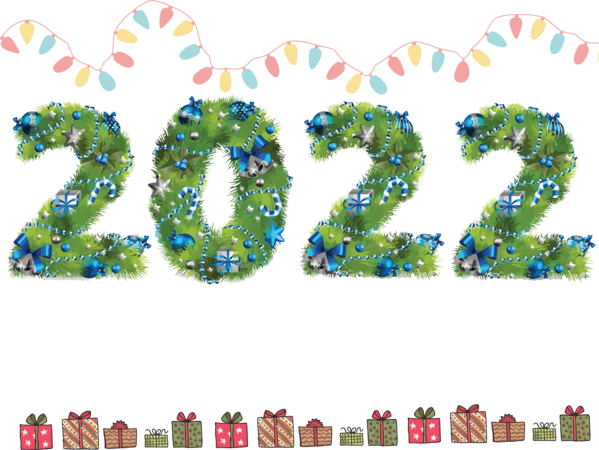 Transparent New Year Font Number Meter for Happy New Year 2022 for New Year
